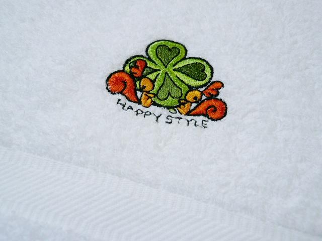 別注刺繍ソフト白バスタオル
