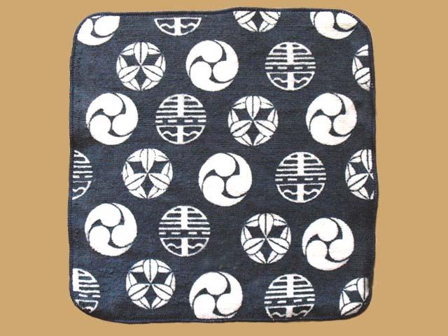 特注!中国製顔料総ベタプリントシャーリングミニハンカチ(2009黒田青年團)